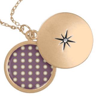 Circles purple 2 round locket necklace
