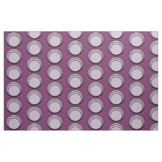 Circles purple black purple fabric
