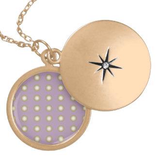 Circles purple round locket necklace