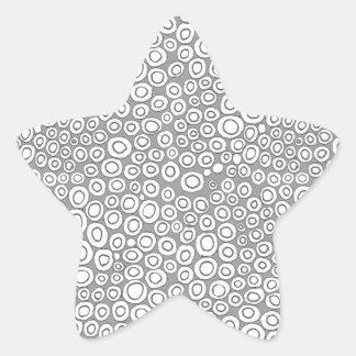 Circles Star Sticker