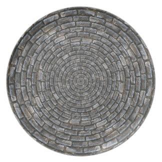 Circles stones wall plate