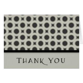 Circles Thank You Greeting Card