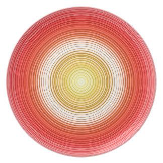 Circles - Tomato Colors Plate