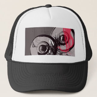 circles trucker hat