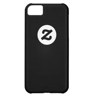 CircleZ - White on Black iPhone 5C Case