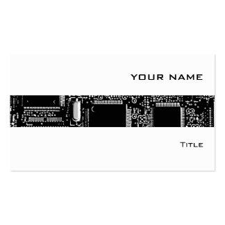 Circuit B W 2 stripe business card white
