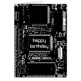 Circuit B&W 'Happy Birthday' card