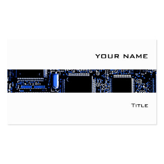 Circuit Blue 2 stripe business card white