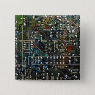Circuit Board 15 Cm Square Badge