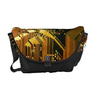 Circuit Board 1 Messenger Bag