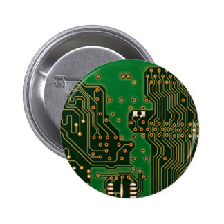 circuit board background badge