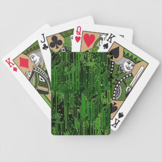 Circuit board background bicycle playing cards