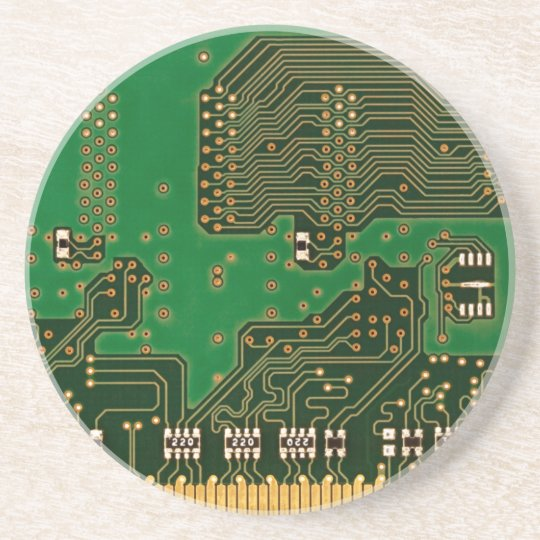 circuit board background coaster