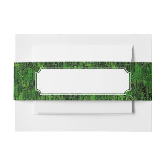 Circuit board background invitation belly band