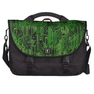 Circuit board background laptop bag