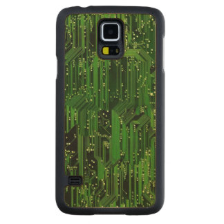 Circuit board background maple galaxy s5 slim case