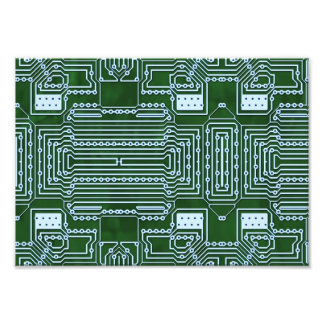 Circuit Board Background Photographic Print