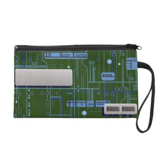 Circuit Board Wristlet Purse