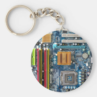 Circuit board basic round button key ring