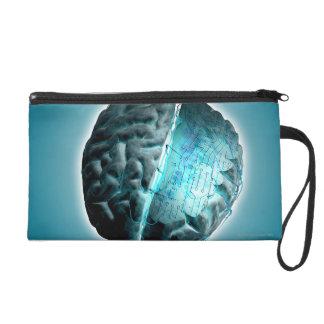Circuit Board Brain 2 Wristlet Purses