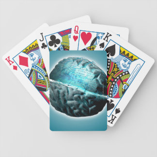 Circuit Board Brain 2 Bicycle Playing Cards