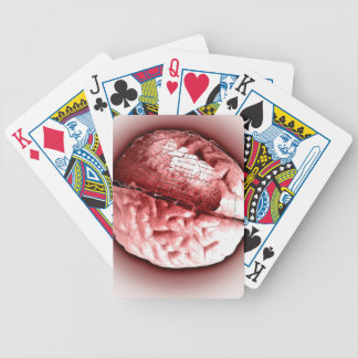 Circuit Board Brain Bicycle Playing Cards