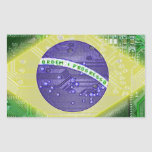 circuit board Brazil Rectangular Stickers