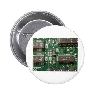Circuit Board Design 6 Cm Round Badge