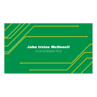 Circuit Board Electronic Computer Professional Pack Of Standard Business Cards