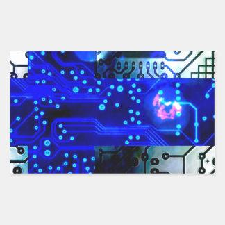 circuit board Finland Rectangular Sticker