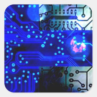 circuit board Finland Square Sticker