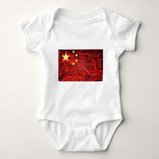 circuit board Flag (China) Baby Bodysuit