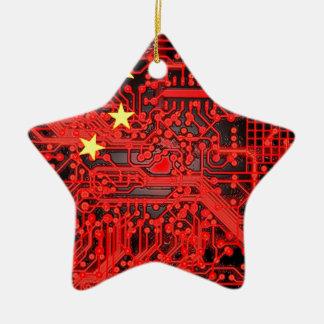 circuit board Flag (China) Christmas Ornament