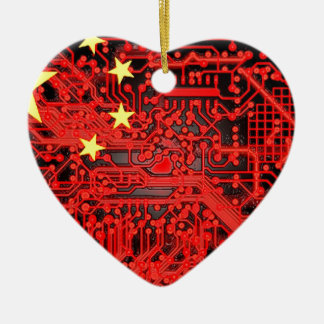 circuit board Flag (China) Christmas Ornament