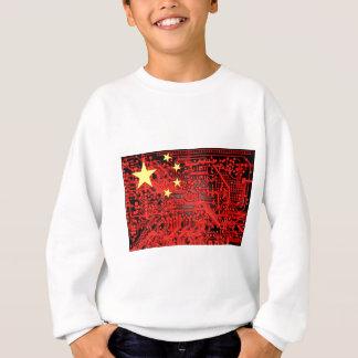 circuit board Flag (China) Sweatshirt