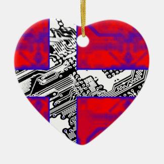 circuit board Flag (Denmark) Christmas Ornament