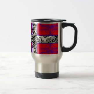 circuit board Flag (Denmark) Travel Mug