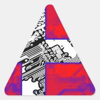 circuit board Flag (Denmark) Triangle Sticker