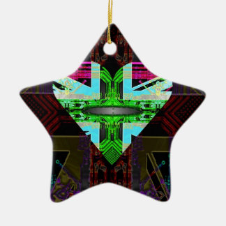 circuit board Flag, Union Jack. Christmas Ornament