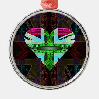 circuit board Flag, Union Jack. Christmas Ornament
