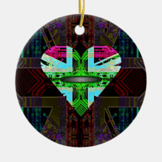 circuit board Flag Union Jack Ornament