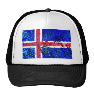 circuit board iceland (Flag) Cap