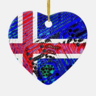 circuit board iceland (Flag) Christmas Ornament