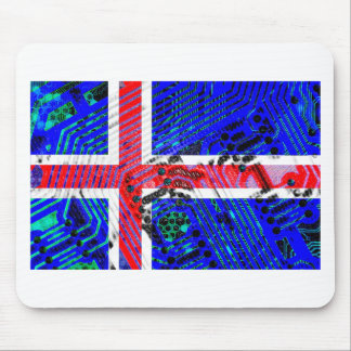 circuit board iceland (Flag) Mouse Mat