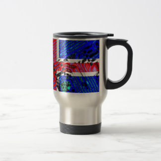 circuit board iceland (Flag) Travel Mug