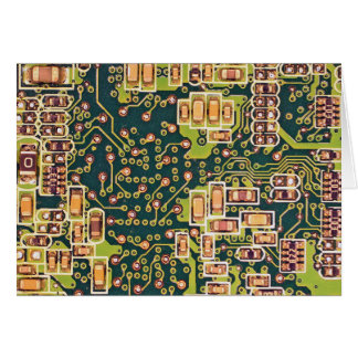 Circuit Board Macro Photo Card