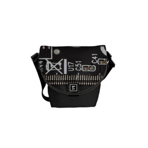 Circuit Board Messenger Bag