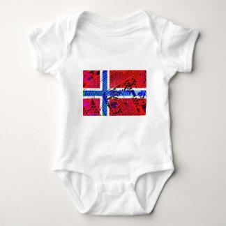 circuit board Norway (Flag) Baby Bodysuit