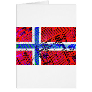 circuit board Norway (Flag) Card