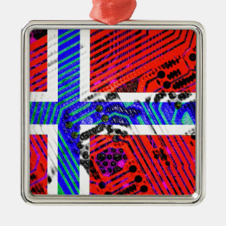 circuit board Norway (Flag) Christmas Ornament